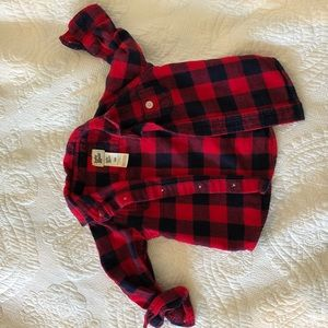 Red flannel shirt for infant